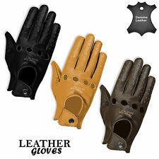 Mens Winter Leather Gloves Driving Dress Full Finger Running Leather Gloves