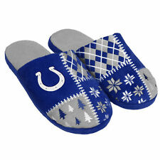 Indianapolis Colts Ugly Sweater Slippers - NFL