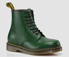 New Dr Martens docs womens GREEN smooth leather 8up 1460 boots.