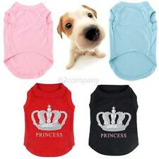 Pet Dog Cat Clothes Puppy Summer Vest T Shirt Cute Coat Apparel Costumes XS-3XL