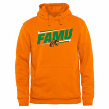 Florida A&M Rattlers Double Bar Pullover Hoodie - Orange - College