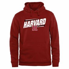 Harvard Crimson Double Bar Pullover Hoodie - Cardinal - College