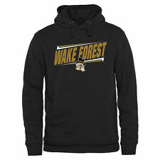 Wake Forest Demon Deacons Double Bar Pullover Hoodie - Black - College