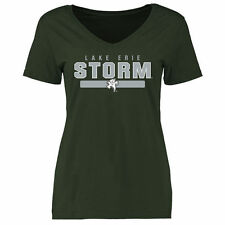 Lake Erie College Storm Women's Team Strong Slim Fit T-Shirt - Green - NCAA