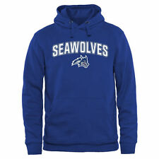 Stony Brook Seawolves Proud Mascot Pullover Hoodie - Royal - College