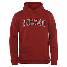 Harvard Crimson Name Arch Pullover Hoodie - Crimson - College