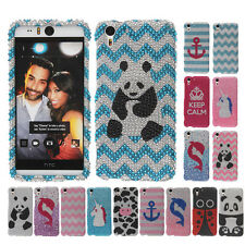 For HTC Desire EYE AT&T Bling Crystal Stone Snap On Hard Case Cover Accessory