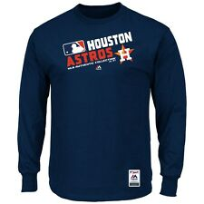 "Houston Astros Majestic MLB Authentic ""Team Choice"" On-Field L/S T-Shirt"