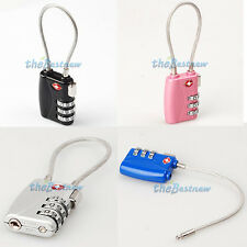 TSA 3 Dial Digit Combination Travel Suitcase Luggage Metal Password Lock Padlock