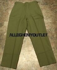 Vintage 100% Wool Olive Drab M-1951 Korean Era Military Mens Pants USA Made NEW