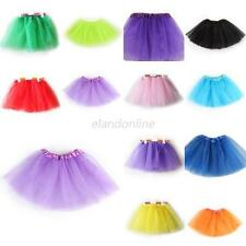 Solid Petti Ballet Knotted Dance Tutu Tulle Skirt Baby Girl Kids Dancewear E16