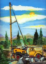 Well Drilling Rig Art Print Mack Truck Water Oil Gas Plumber Pump Drill Gift Bit