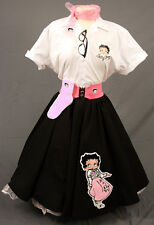 Adult Betty Boop Complete Outift with Black Circle Skirt  w/ Betty Boop Wearing