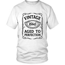 70th Birthday T-Shirt VINTAGE AGED TO PERFECTION 1946  Bday 70 Gift Idea Present