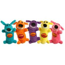 Loofa Original Stuffed Plush Squeaky Squeaker Dog Toy 6 in Assorted Colors New