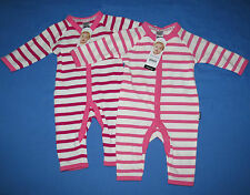 2 x BONDS Baby Girl Pink Stretchies Coverall Sizes 000 or 00 BNWTs