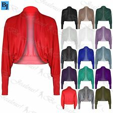 Womens Long Batwing Short Sleeves Top Ladies Jersey Bolero Cardigan Shrug Top