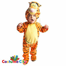 Babys Toddlers Official Tigger All-in-One Winnie the Pooh Fancy Dress Costume