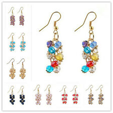 Pair Of Beautiful Faceted Mixed Color Crystal Abacus Beads Earrings AY195