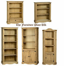 Bookcase Solid Waxed Pine Corona Priced individually
