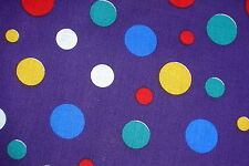 1 PURPLE CLOWN SPOTS COTTON FABRIC DRAWSTRING MARBLE or GIFT BAG hand made