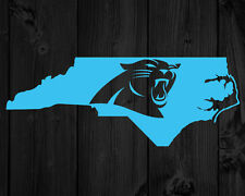 "2 CAROLINA PANTHERS DECAL NORTH CAROLINA STATE VINYL PAIR CAR 9.1"" X 3.5"""