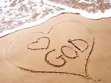 Love God / Beach - Framed Canvas Picture - 4 Sizes Available!