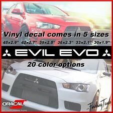 Mitsubishi EVIL EVO Windshield Decal vinyl sticker custom graphic log 7 8 9 10 x