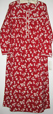 Womens Red Winter Flannel Nightgown Gowns Size S  Charter Club Sleepwear New