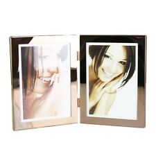 2 in 1 Contemporary Shiny Copper Table Photo Frame 13x18CM 10x15CM Home Decor