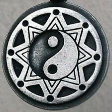 8 Pointed Star Octagram QUANTUM ENERGY YIN YANG steampunk Surfer Pewter Pendant