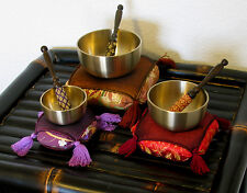 Singing Bowl Set - Japanese Spun Brass Rin Gong with Wood Striker & Cushion