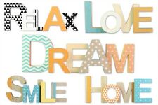 29x13.5CM Wooden Smile Dream Home Relax Love Wall Plaque Desk Home Decoration
