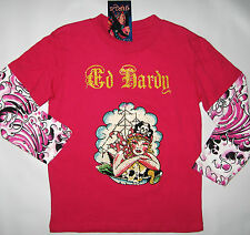 New Ed Hardy Kids Rhinestone T-Shirt Top Shirt Clothing Girls Sz 4/5 5/6 Mermaid