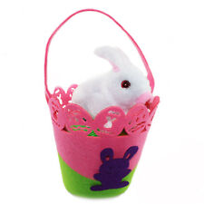 Easter Electronic Singing Hopping Rabbit Bunny With Basket Gift Toy Party Set