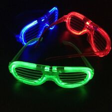 LED Shutter Glasses Light Up Shades Flashing Rave Costume Wedding Party Supplies