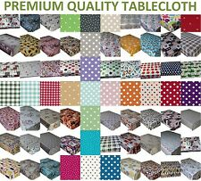 Wipe Clean Tablecloth Vinyl PVC OILCLOTH ALL DESIGNS TABLE COVER PROTECTOR