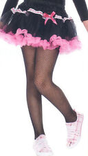Music Legs 290 Child XL Fishnet Tights Girls Size Fits Petite Adult Woman Black