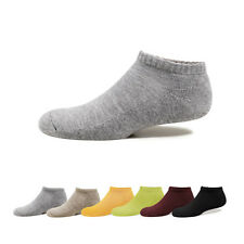 Pulog Womens Plain Color Sport Socks Running Cushioned Trainer