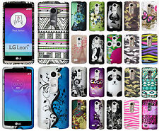 For LG Destiny L21G Rubberized HARD Protector Case Snap On Cover +Screen Guard