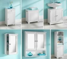 Modern Bathroom furniture - Cabinet Shelves Storage units in White