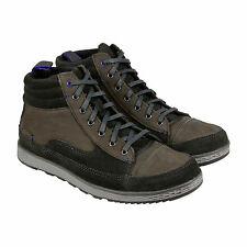 Cushe Burnside Mens Grey Suede & Leather High Top Lace Up Sneakers Shoes