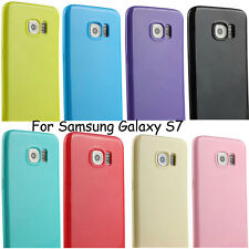 Slim Silicone Rubber TPU Gel Soft Back Cover Skin Case For Samsung Galaxy S7