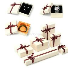 1Pcs Ring Earring Necklace Square Jewellery Gift Case Boxes Display Package E52