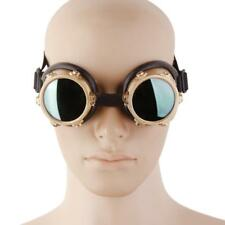 Vintage Steampunk Goggles Glasses Welding Cyber Punk Sunglasses Gothic Cosplay