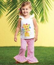 Mud Pie Safari Baby Girl Multi-Color Lion Pant Set 1112159