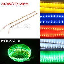 24 48 72 120 LED Waterproof Flexible Linear Strip CAR LED Lights Red Blue White