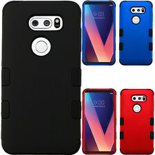 For ZTE Grand X Max Rubber IMPACT TRI HYBRID Case Skin Phone Cover Accessory