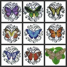 Beautiful Butterflies Art Embroidered Iron On Patches