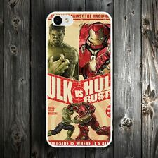 The Avengers Hulk And Iron Man Phone Case Cover For iPhone 4 5 5c 5s 6 6s Plus